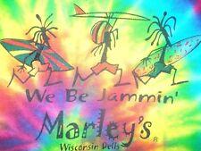 Marley's We Be Jammin Wisconsin Dells Tie Dye T-Shirt Adult Medium