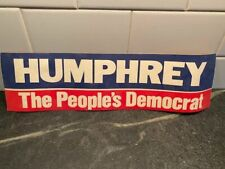 1970s Vintage Humphrey People Democrat Americana Campaign Decal Bumper Sticker