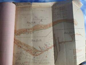 Deutsche Reichsbahn Gesellschaft Trier 1932 Original Karten Pläne Ordner