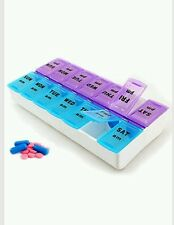 7 Days Pill Box with Clip Lids for Medicine Organiser Tablet Storage