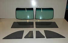 1949 1950 OLDSMOBILE CONVERTIBLE SERIES 76 & 88 COMPLETE GLASS SET SMOKE GREY