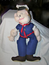 Popeye Doll Handmade Cloth One-of-a-Kind Vintage '80's Collectible Rare Unique