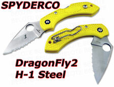 Spyderco Yellow DragonFly 2 H1 Serrated NUMBRD C28SYL2