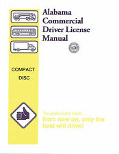 COMMERCIAL DRIVER MANUAL FOR CDL TRAINING (ALABAMA) ON CD IN PDF PROGRAM.