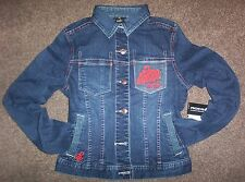 LADIES ROCAWEAR DENIM JACKET SIZE MEDIUM
