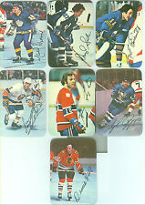 1976-77 sale 14 HOCKEY GLOSSIES BOBBY CLARKE, GUY LAFLEUR, MARCELLE DIONNE SALE