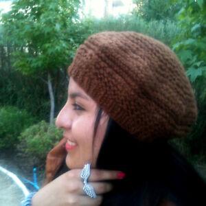 Handspun Llama Wool French Beret – Chilean Knit Wool Beret Hat, Womens Wool Hat