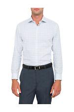 NEW Van Heusen Slim Fit Slim Aqua & Navy Check Business Shirt