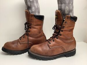 VTG MENS RED WING GORETEX WORK BROWN BOOTS SIZE 10.5 D