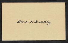 Omar Bradley Autograph Reprint On Genuine Original Period 1940s 3X5 Card