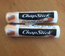 LOT OF 2 ChapStick Limited Edition Pumpkin Pie, 0.15 oz (G)