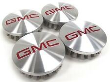 "4pcs/ set GMC 3.25"" BRUSHED ALUMINUM wheel CENTER CAPS 83mm Hub Caps 2014-2018"