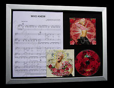 PINK Who Knew GALLERY QUALITY MUSIC CD FRAMED DISPLAY+EXPRESS GLOBAL SHIP+DEAD