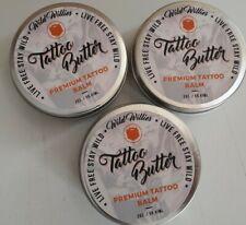 Lot Of 3 Wild Willies Tattoo Butter Premium Tattoo Balm 2 oz Each in Tin