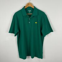 Masters Tech Mens Golf Polo Shirt Large Green Short Sleeve Collared