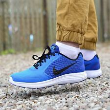 NIKE REVOLUTION 3 running baskets chaussures gym casual-uk 8.5 (eur 43) photo bleu
