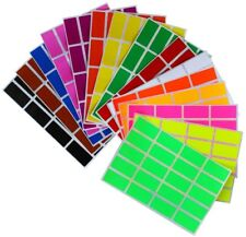 Rectangular Office Stickers 1.57 x 0.75 Inch Colored Code Folder File Labels