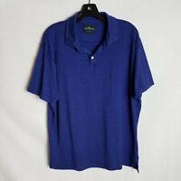 Rodd & Gunn Mens Blue Linen Short Sleeve Sports Fit Polo Shirt Size Large TP206