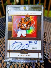 *#d /15* A.J. Green 2019 Panini One Matchless Auto
