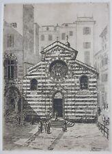 1933ca Genova S. MATTEO Chiesa Abbaziale dei Doria Giuseppe Moreno incisione