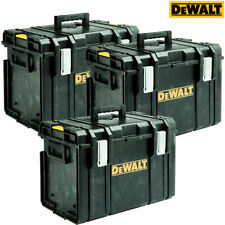3 x DeWalt DS400 Stackable Tool Box for Power Tools & Hand Tools - No Tote Tray