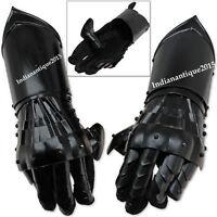 New Black Antique Armour Gauntlet Gloves Medieval Steel Functional Gloves