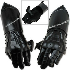 New Black Antique Armour Gauntlet Gloves Medieval Steel Functional Gloves