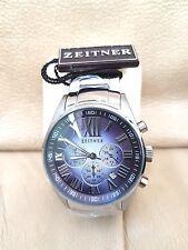 Zeitner Tycoon Para Hombre Reloj De Acero Inoxidable En Crome, Original