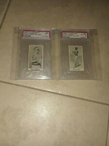 1938 F.C. Cartledge Peter Jackson PSA 8,BOB FITZSIMMONS PSA 7 Boxing Cards.