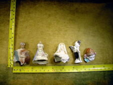 5 x excavated vintage art deco doll head for mixed media altered Art 12374