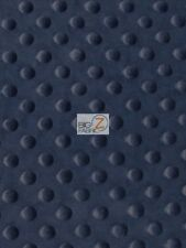 "Dimple Dot Minky Fabric - Navy Blue - 60"" Sew-Soft Baby Fabric Raised Chenille"