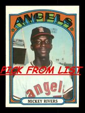 1972 Topps 248-525 EX/EX-MT Pick From List All PICTURED