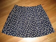 LADIES CUTE BLUE  & BEIGE DOT POLYESTER LINED SKIRT BY GAP SIZE UK 10 AUS 10/12