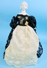 """Unusual 10"""" Bisque Head Lady, Elaborate Molded Hair & Jewelry, Schafer & Vater?"""