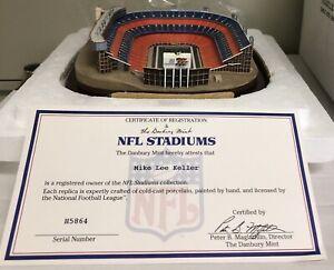 Danbury Mint Denver Broncos Mile High Stadium Replica Stadium W/Box & Reg. Cert