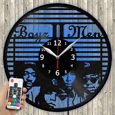 LED Clock Boyz II Men LED Light Vinyl Record Wall Clock LED Wall Clock 4277