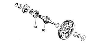KTM HuskyBoy Malaguiti LEM 50cc AC Franco Morini S5 Pair Drive Shaft Bearings