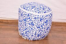 Indian Mandala Cotton Round Ottoman Pouf Ethnic Footstool Pouffe Cover Home Boho