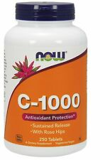 Now Foods VITAMIN C-1000 Time Release, 250 Tabs IMMUNE ANTIOXIDANT with Rosehips