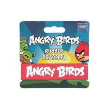 Angry Birds Rubber Bracelet - Red With White Letters