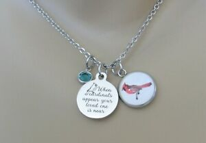 When Cardinals Appear Your Loved One Is Near Necklace, Memorial Jewelry, Mom