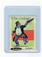 Sunbeam Bread DC Super Heroes Sticker Card #18 Dick Giordano Signed Penguin