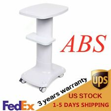 Beauty Salon Machine Use Stand Rolling Cart Spa Trolley Equipment Holder Abs
