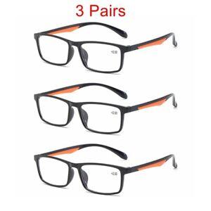 3/6/12 Pack Mens Womens Rectangular Reading Glasses 1.0 1.5 2.0 2.5 3.0 3.5 E631