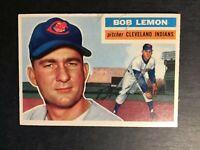 1956 Topps #255 Bob Lemon Cleveland Indians HOF EX-EX+ lot2