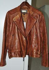 Mango Leather jacket , tan colour, size L