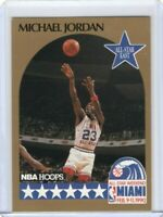 1990 NBA HOOPS Michael Jordan All Star #5 ERROR MISPRINT Basketball Card - RARE