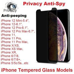 Anti-Spy Tempered Glass Screen Protector Privacy For iPhone 12/Mini/Pro/Pro Max