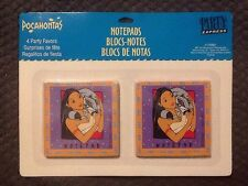 POCAHONTAS AND JOHN SMITH NOTEPADS (4) Birthday Party Supplies Favors Vintage