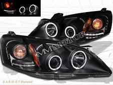 05-09 PONTIAC G6 BLACK TWIN CCFL HALO PROJECTOR HEADLIGHTS LED 06 07 08 2009